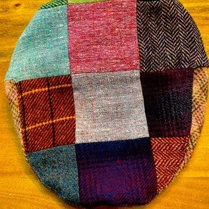Donegal Tweed Hat Wool Ireland Fitted Patchwork